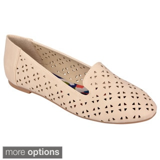 Journee Collection Women's 'Perry' Cutout Ballet Flats