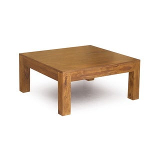 "Handmade Cube Low Square Coffee Table (India) - 15.75"" x 35.5"" x 35.5"""