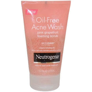 Neutrogena Oil Free Acne Wash Pink Grapefruit 4.2-ounce Foaming Scrub