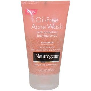 Neutrogena Oil Free Acne Wash Pink Grapefruit 4.2-ounce Foaming Scrub