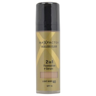 Max Factor Ageless Elixir 2-in-1 #40 Light Ivory Foundation + Serum