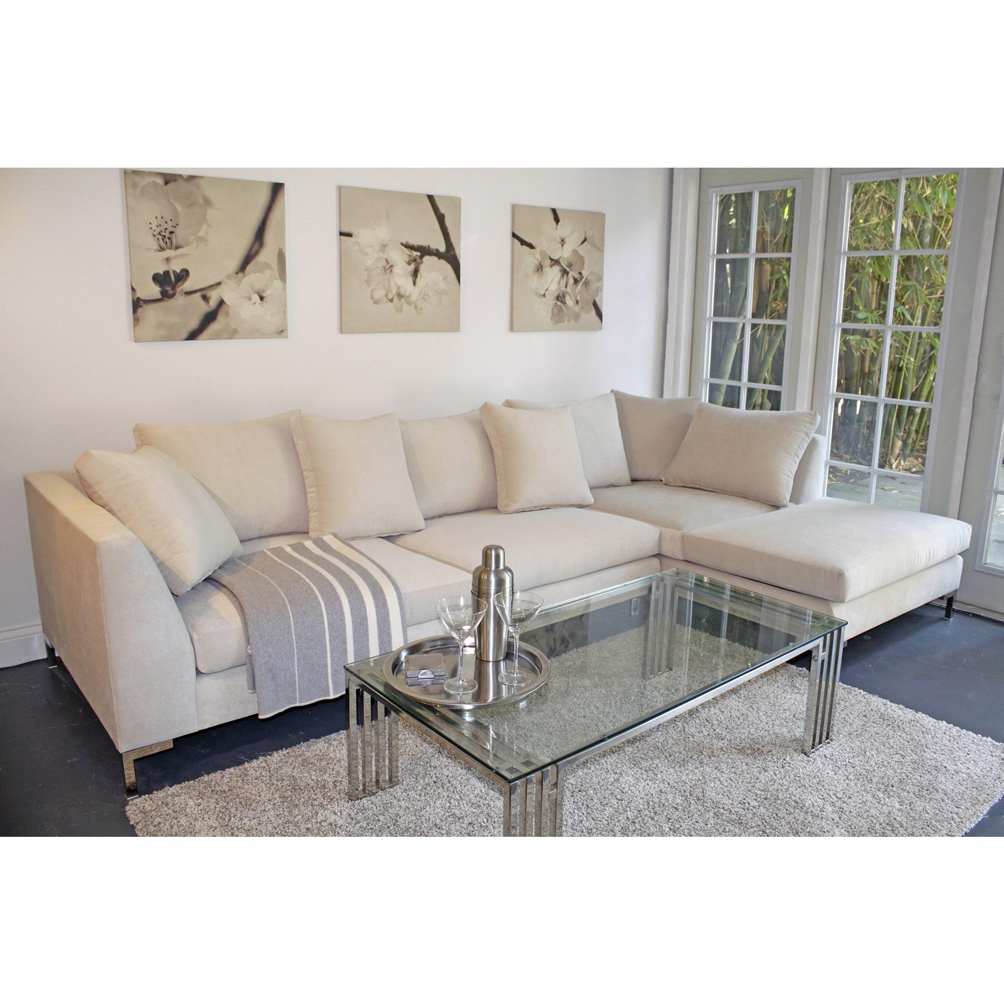 Excellent Decenni Custom Furniture Divina Bone 9 5 Foot Modern Sectional Sofa Frankydiablos Diy Chair Ideas Frankydiabloscom