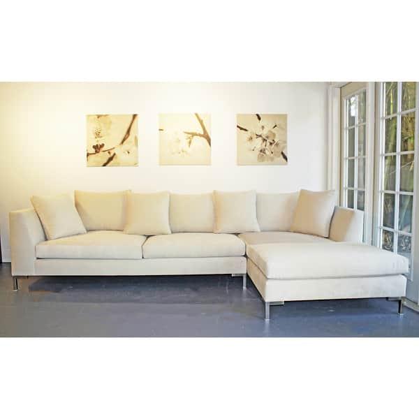 Brilliant Shop Decenni Custom Furniture Divina Bone 9 5 Foot Modern Frankydiablos Diy Chair Ideas Frankydiabloscom