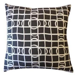 Black and White Planet Throw Pillow