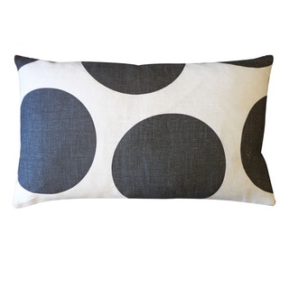 Black and White Ball Print Throw Pillow