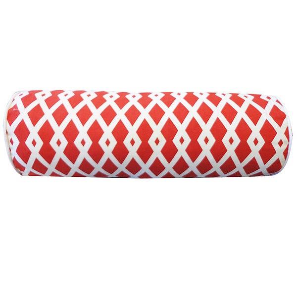 7 x 21-inch Red Moderna Throw Pillow - 7 x 21