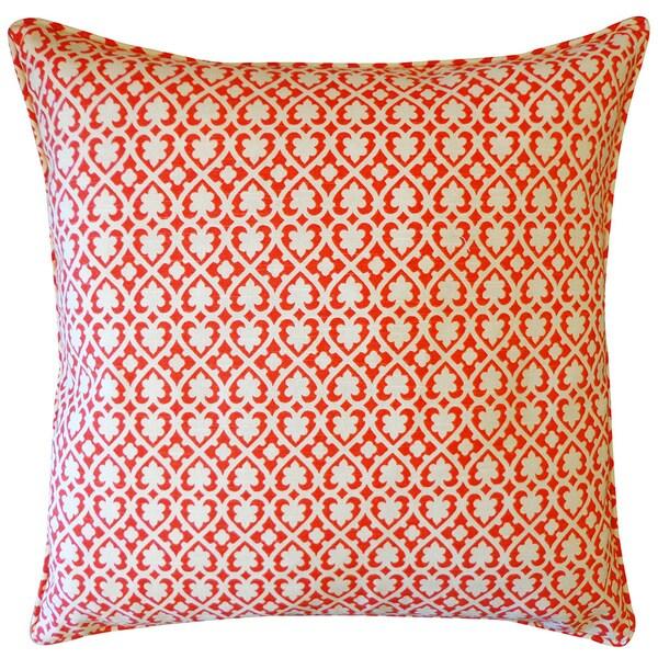 """Handmade Red Spade Throw Pillow - 20"""" x 20"""""""