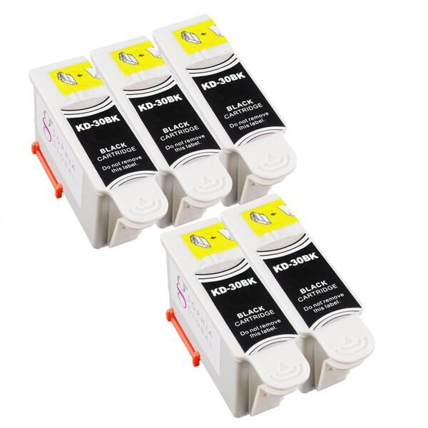 Sophia Global Compatible Ink Cartridge Replacement for Kodak 30 Black (Pack of 5)