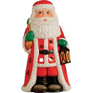 Santa 7-inch Resin Votive Candle Holder