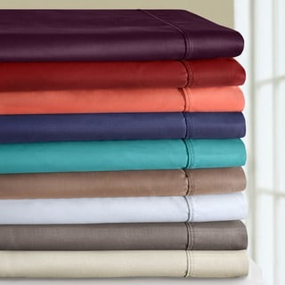 Superior Cotton Blend 800 Thread Count Wrinkle-Resistant Solid Sheet Set
