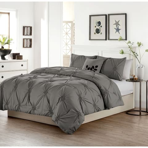 The Gray Barn Rock Creek Pinched Pleat 4-piece Comforter Set