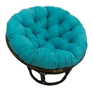 "Link to Blazing Needles 44-inch Microsuede Papasan Cushion - 44"" x 44"" Similar Items in Table Linens & Decor"