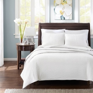 Madison Park Jaxson White 3-piece Coverlet Set