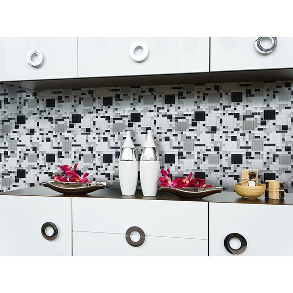 Up To 45 Off Peel Stick Kitchen Backsplash Tile At Walmart: Shop Peel And Stick Glass Mosaic Tile
