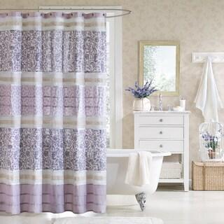Madison Park Ruby Cotton Shower Curtain