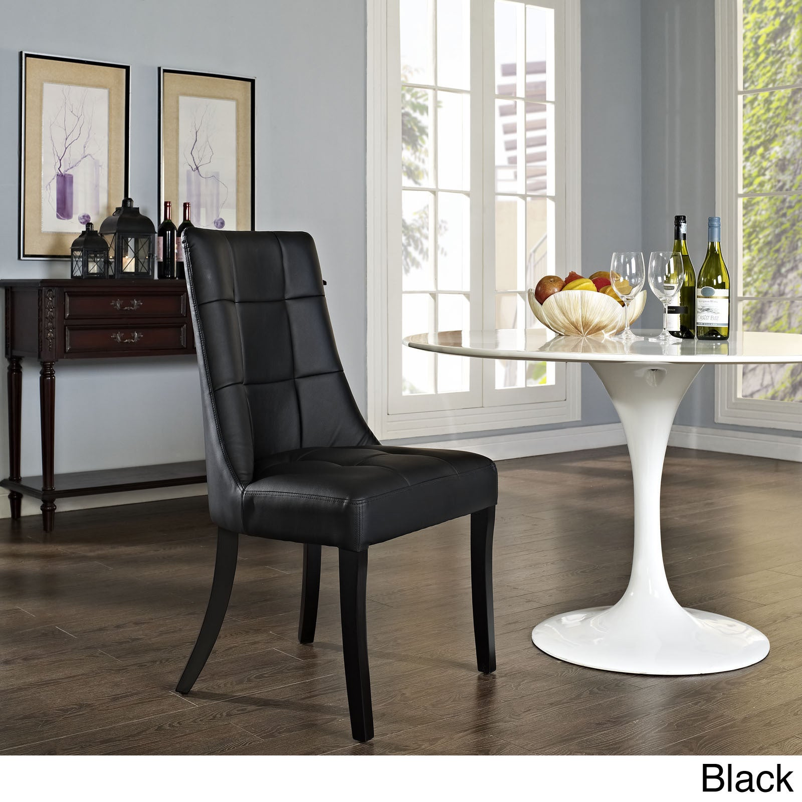 Swell Noblesse Black Vinyl Dining Chair Gmtry Best Dining Table And Chair Ideas Images Gmtryco