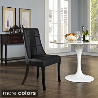 Noblesse Black Vinyl Dining Chair