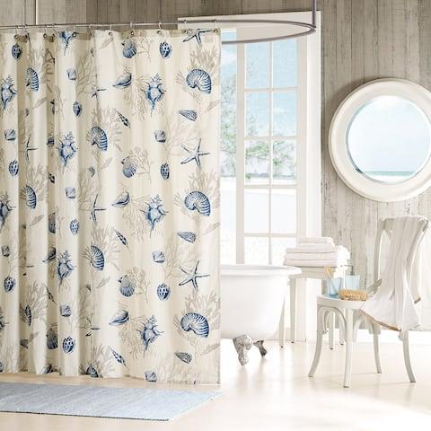 Madison Park Nantucket Cotton Shower Curtain