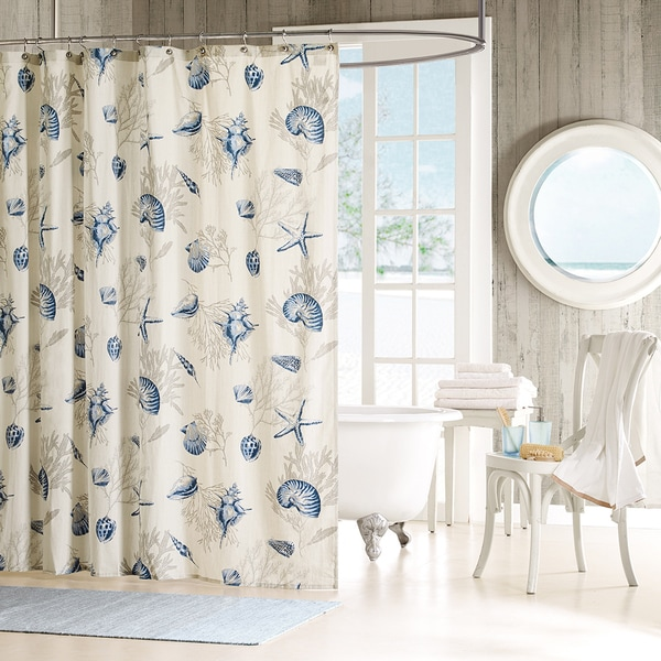 Shop Madison Park Nantucket Cotton Shower Curtain