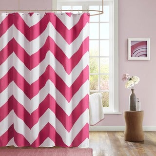 Curtains Ideas coral chevron shower curtain : Pink Shower Curtains - Overstock.com - Vibrant Fabric Bath Curtains