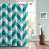Clay Alder Home Niantic Chevron Microfiber Shower Curtain