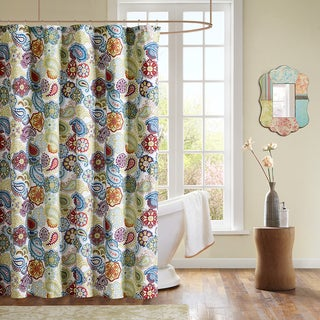 The Curated Nomad Lyon Microfiber Floral Paisley Shower Curtain
