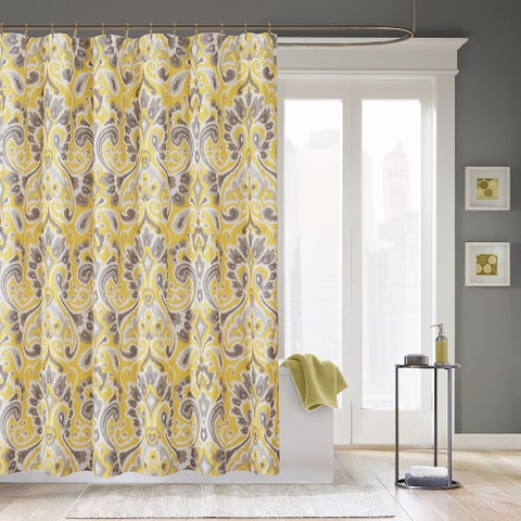 The Curated Nomad Lyon Microfiber Geometric Shower Curtain