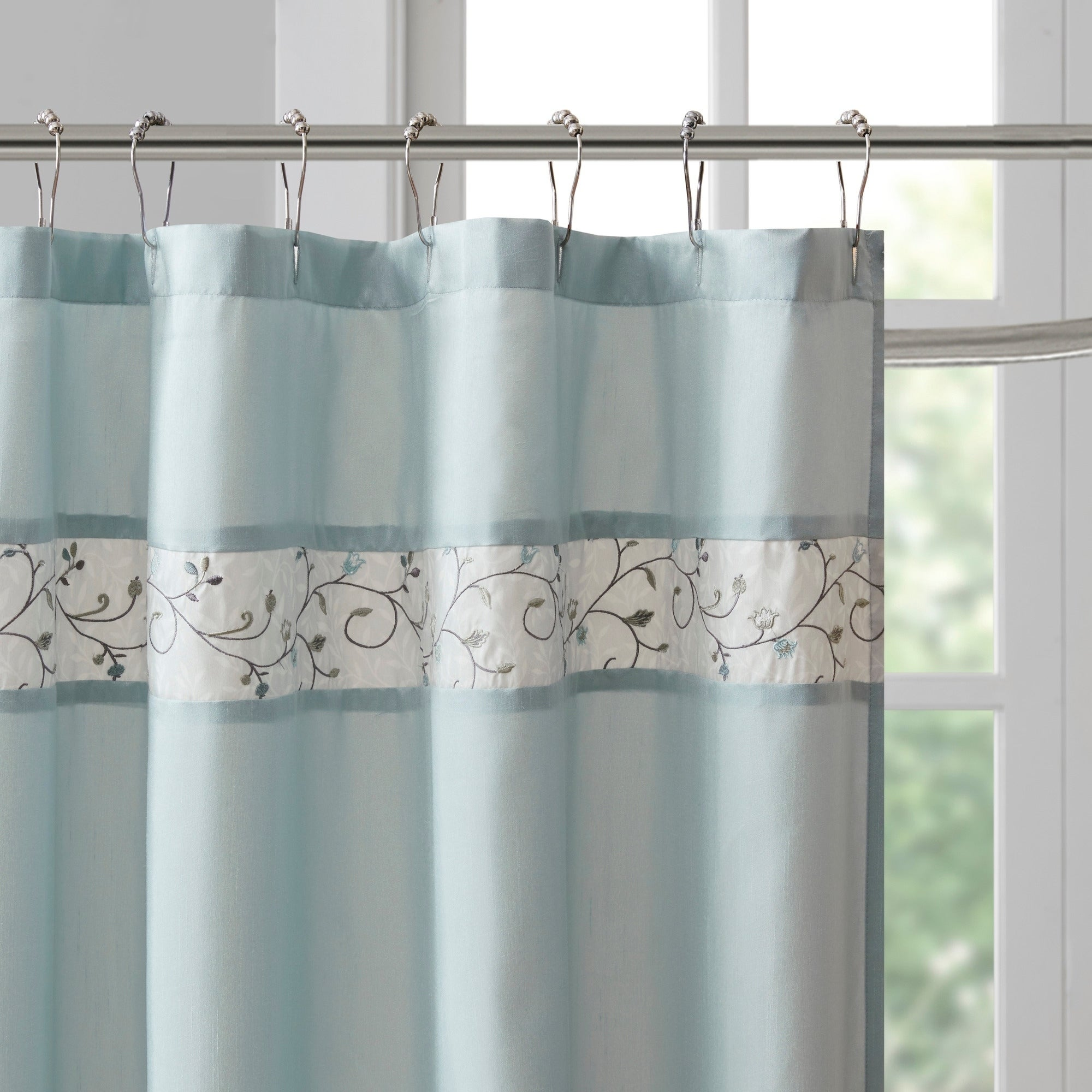 Shower Curtains Shower Curtains Hooks Liners Serene Faux