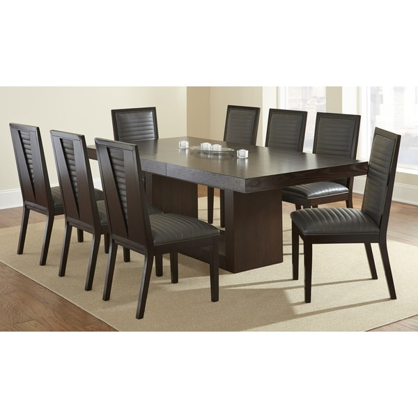 Greyson Living Amia Espresso Dining Set With Alexa Chairs