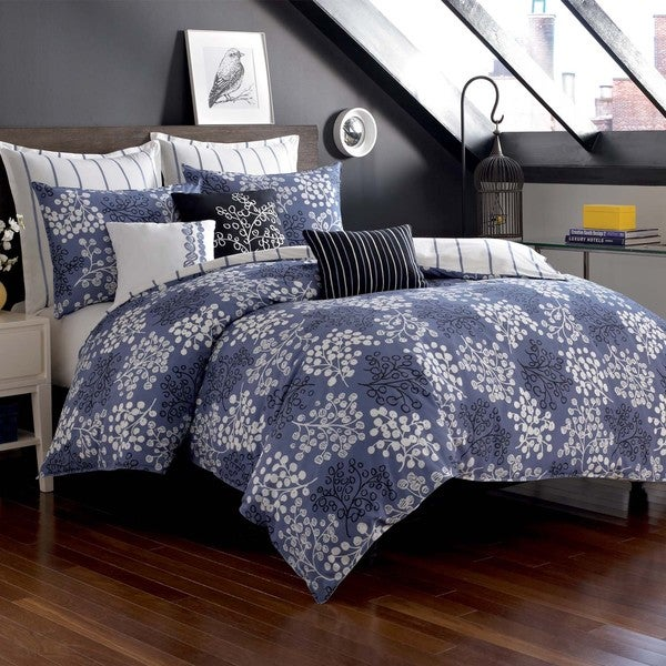 Pom Pom 3-piece Duvet Cover Set with Optional Euro Sham Sold Separately