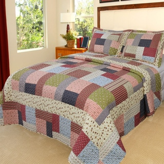 Lavish Home Savannah 3-piece Quilt Set