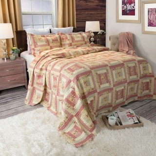 Lavish Home Melissa 3-piece Quilt Set