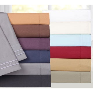 Triple Stitch 4-piece Bed Sheet Set