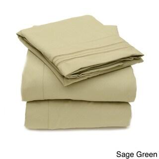 Triple Stitch 4-piece Bed Sheet Set