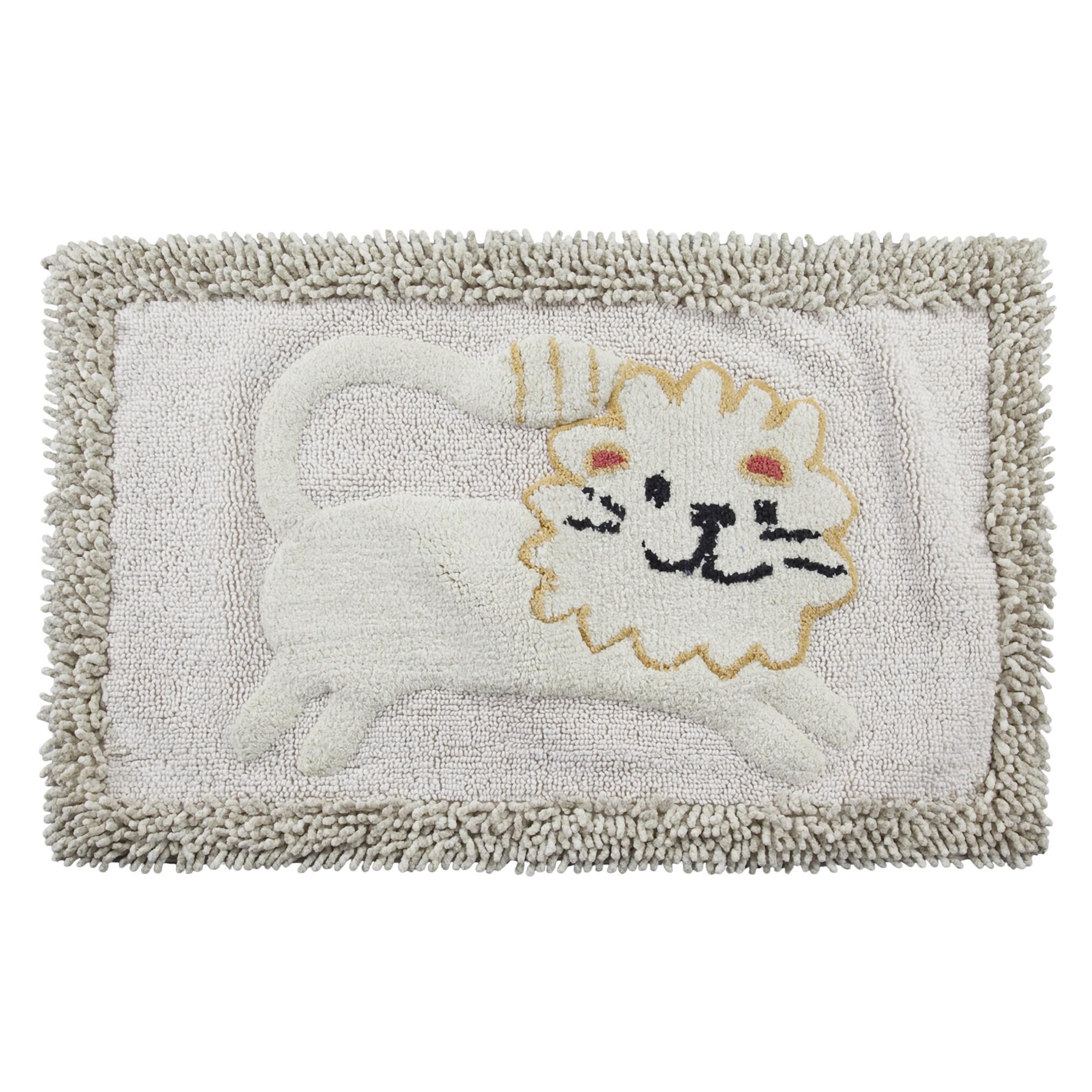Creative Animal Crackers Bathroom Set (bath rug), White (...