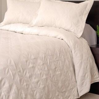 Windsor Home Andrea 3-piece Cream Quilt Set