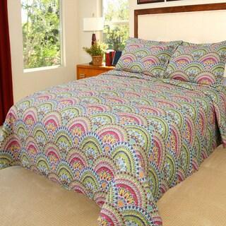 Lavish Home Melanie 3-piece Quilt Set