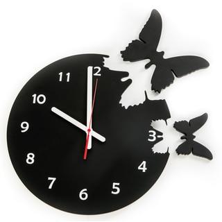 14-inch Wooden Butterfly Clock