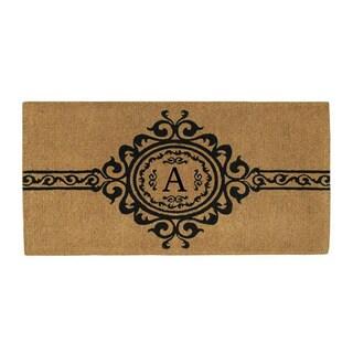 Handmade Garbo Extra-thick Monogrammed Doormat (3' x 6')