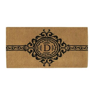 Handmade Garbo Extra-thick Monogrammed Doormat (3' x 6') (More options available)