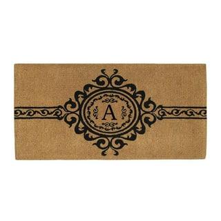 Handmade Garbo Extra-thick Monogrammed Doormat (3' x 6')|https://ak1.ostkcdn.com/images/products/8581423/P15854562.jpg?impolicy=medium