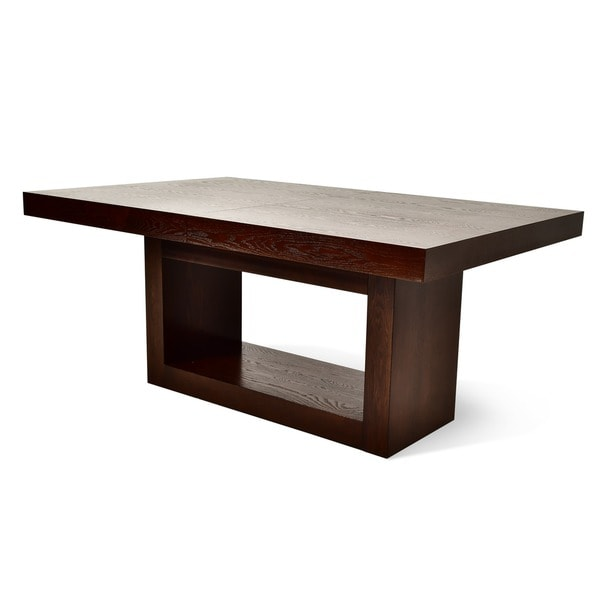 Amia espresso dining table with removable leaf by greyson for Greyson dining table