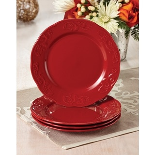 Paula Deen Signature Dinnerware Red Spiceberry Salad Plates (Set of 4)