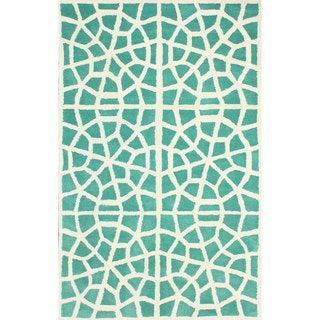 nuLOOM Handmade Cambridge Moroccan Trellis Wool Rug (5' x 8')