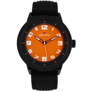 Seapro Men's Wave Orange Dial Watch