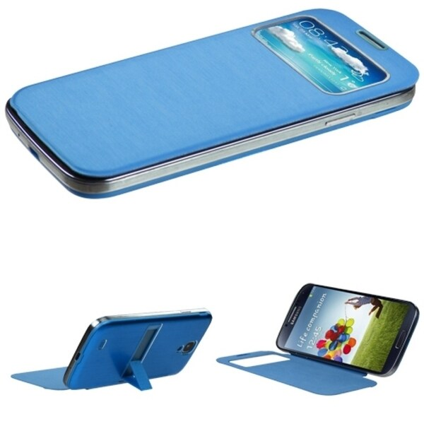 INSTEN Blue Phone Case Cover with Stand for Samsung Galaxy S4 1337/ L720/ M919