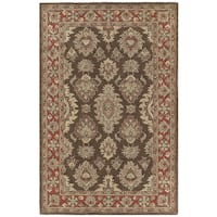 Hand-tufted Lawrence Brown Kashan Wool Rug - 9'6 x 13'0
