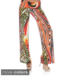 White Mark Women's Wild Prints Palazzo Pants