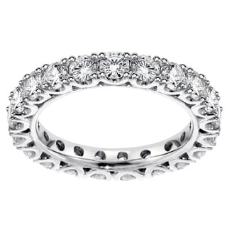 14k White Gold 2 1/10 - 2 2/5ct TDW Diamond Wedding Band