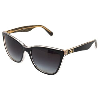 Dolce & Gabbana Women's 'DG 4193 2737/8G' Black Glitter/ Gold Sunglasses